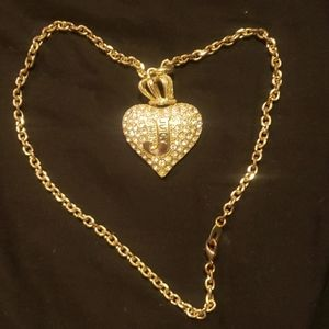 Juicy Couture necklace and heart pendant
